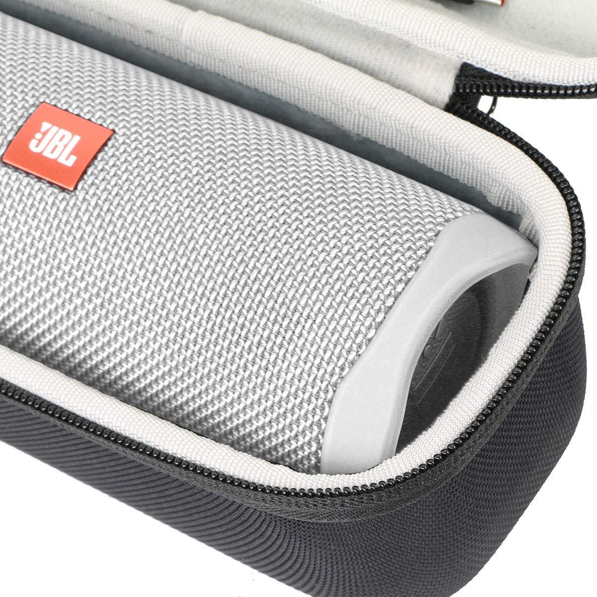 Khanka Hard Travel Case Replacement for JBL FLIP5 Flip 5 Waterproof Portable Bluetooth Speaker Black