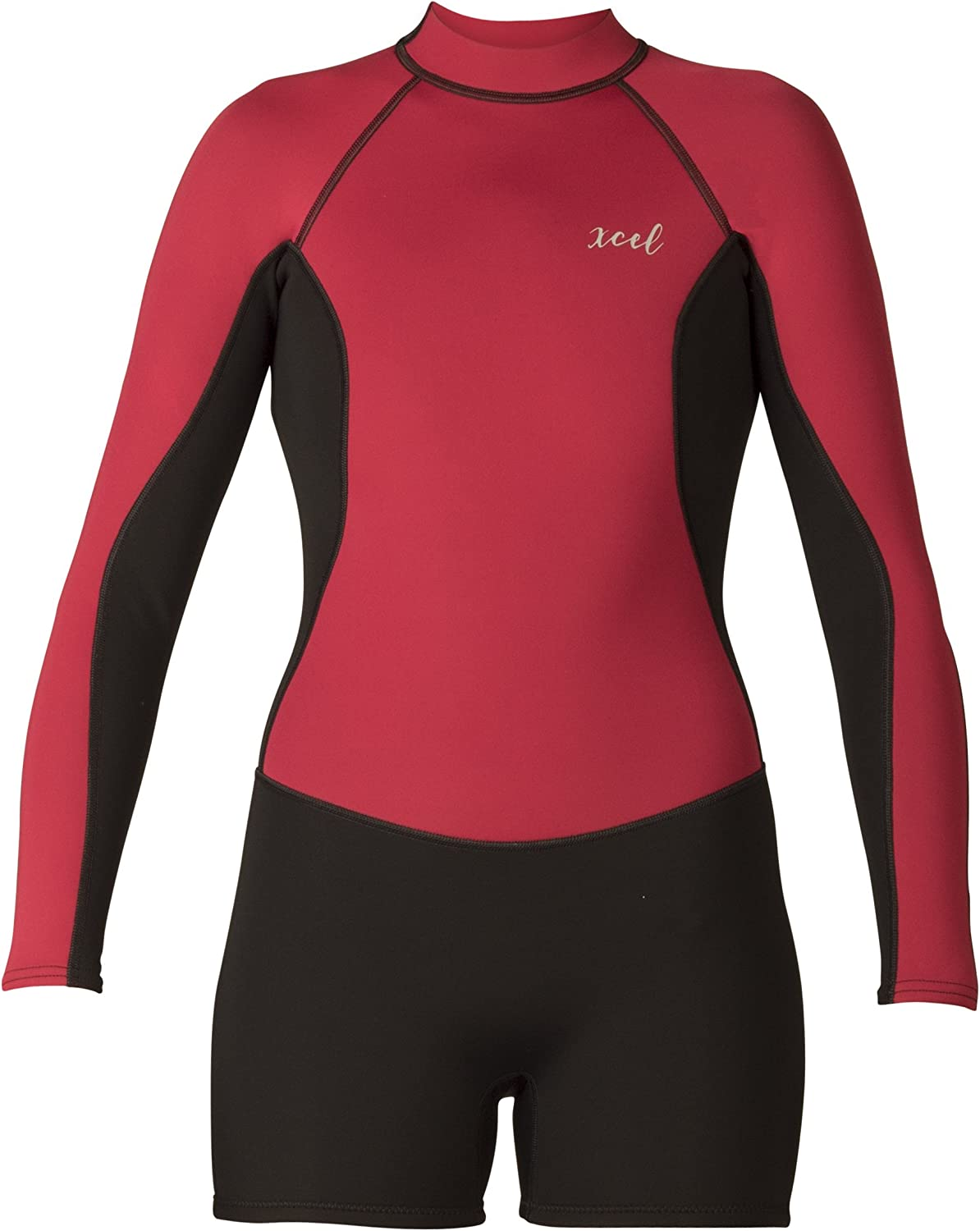 Xcel Women's Axis 2mm Long Sleeve Shorty Spring 2018 Spring Suit, Black Goji Berry, Size 10