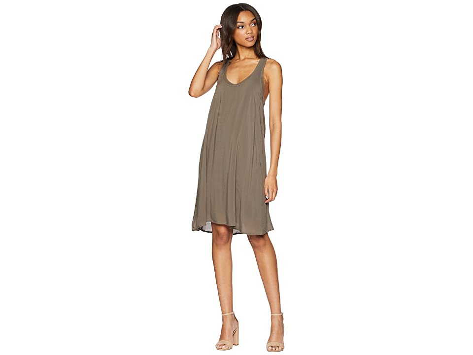 Splendid Rayon Voile Double Layer Dress (Military Olive) Women