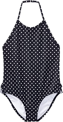 Polo Ralph Lauren Kids - Dot One-Piece Halter Swimsuit (Toddler)