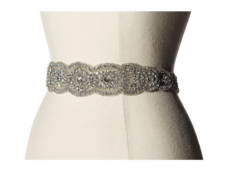 Nina Jonquil Crystal Oval Belt (Ivory Satin/Crystal) Women