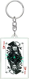 Disney Pirates of The Caribbean: Dead Men Tell No Tales - Jack Sparrow Lucite Key Ring Key Accessory