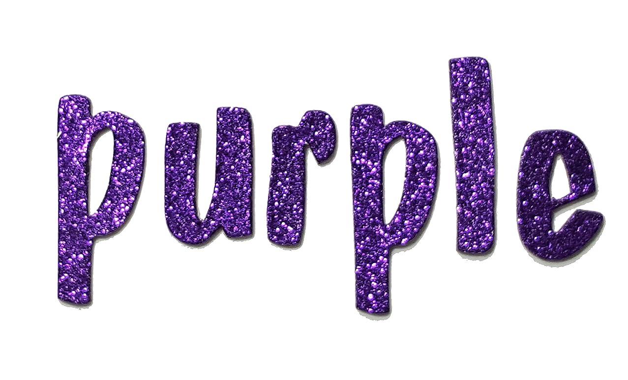 Purple Metallic Glitter HandCut 1.5