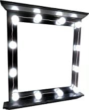 Hollywood Celebrity Style LED Vanity Mirror Attachment Kit with 12 Natural Bright White LED Light Bulbs by yaway for Makeup Dressing Table Cosmetic Attachment Perfect Fit for Mirrors + Dimmer Switch
