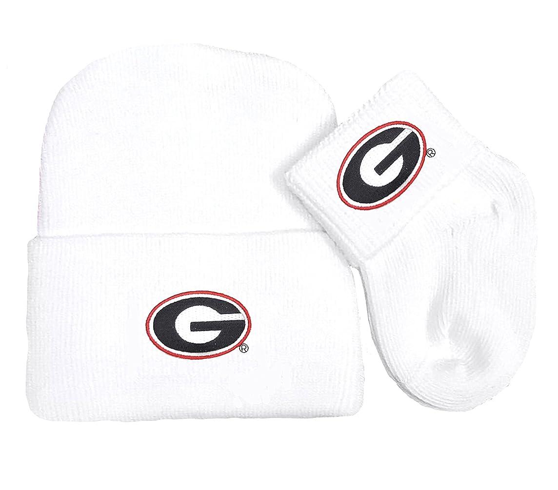 Future Tailgater Georgia Bulldogs Newborn Baby Cap and Socks Set