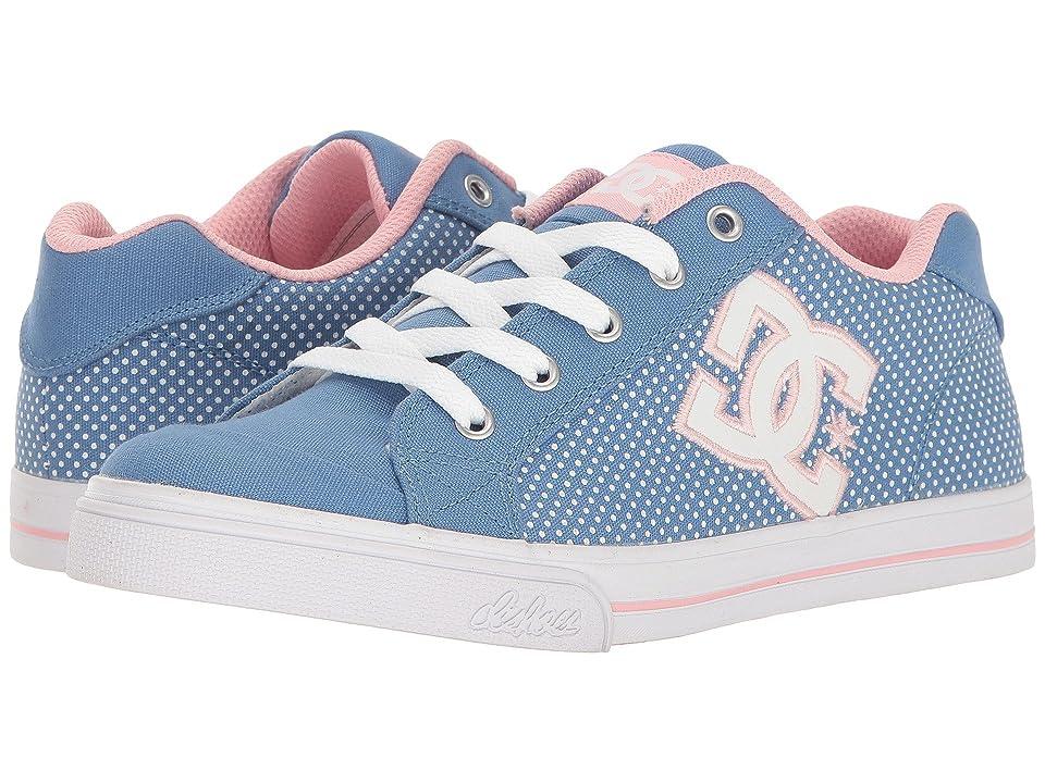 DC Kids Chelsea TX SE (Little Kid/Big Kid) (Blue/White Print) Girls Shoes