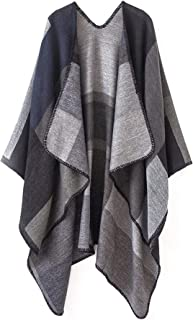 Winter Poncho Cape Open Front Blanket Shawl and Wrap Cloak Cardigan Sweater Coat
