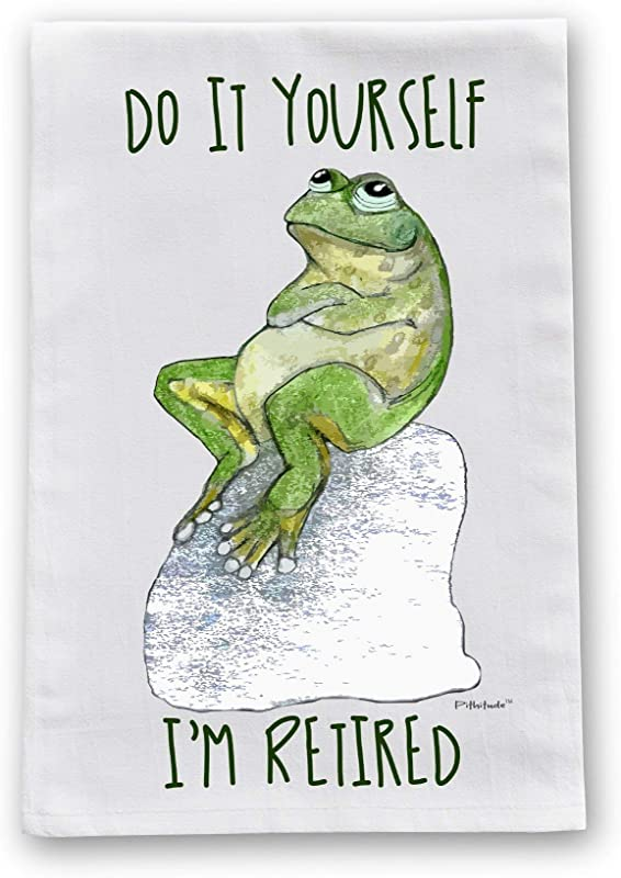 Retired Frog Flour Sack Cotton Dish Towel By Pithitude