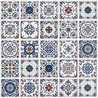 FAM STICKTILES Peel and Stick Backsplash Tiles, Premium Mexican Talavera Tiles Kitchen Backsplash, Stick on Wall Tiles 3D Wall Sticker Wallpaper Tiles 10