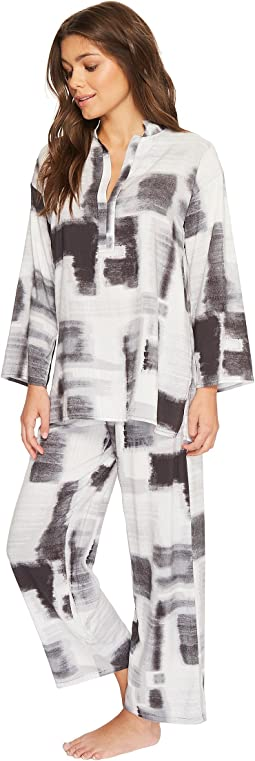 N by Natori Brushstroke Geo PJ Set