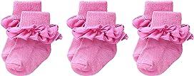 Misty Ruffle Turn Cuff 3-Pack (Infant/Toddler/Little Kid/Big Kid)