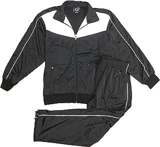 Men Classic Full Zip Track Jacket and Jogging Track Pant Active Wear Sports Tracksuit Set Sizes S M L XL 2XL 3XL 4XL