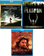 Iwo Platoon Triple War Feature Oliver Stone + Letters from Iwo Jima & The Last Samurai 3 Pack War Movie Action Set