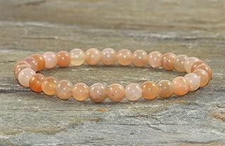 Peach Moonstone Bracelet, Moonstone Jewelry, Yoga Mala Beads Healing Crystals & Stones, Feminine Energy-Awakening the Goddess-New Beginnings