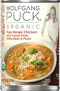 Wolfgang Puck Organic Free Range Chicken with Tuscan-Style White Bean & Pesto Soup,..