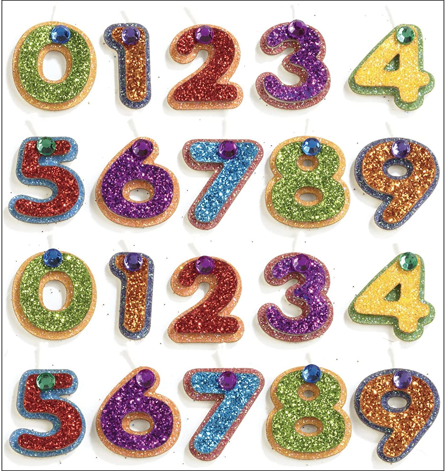 Jolee's Mini Repeats Stickers-Number Candle B0077I4PAE | Export