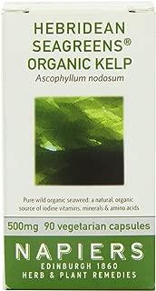 Napiers Hebridean Seagreens Organic Kelp 90 Capsules - Natural Herbal Vitamins and Minerales