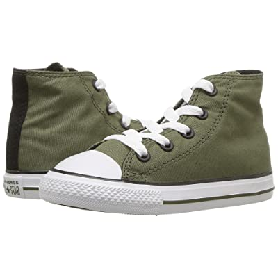 Converse Kids Chuck Taylor(r) All Star(r) Hi (Infant/Toddler) (Field Surplus/Black/White) Boy