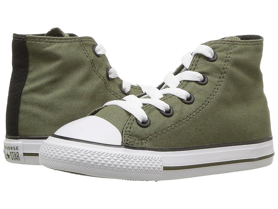 Converse Kids Chuck Taylor(r) All Star(r) Hi (InfantToddler) (Field SurplusBlackWhite) Boy's Shoes, Green