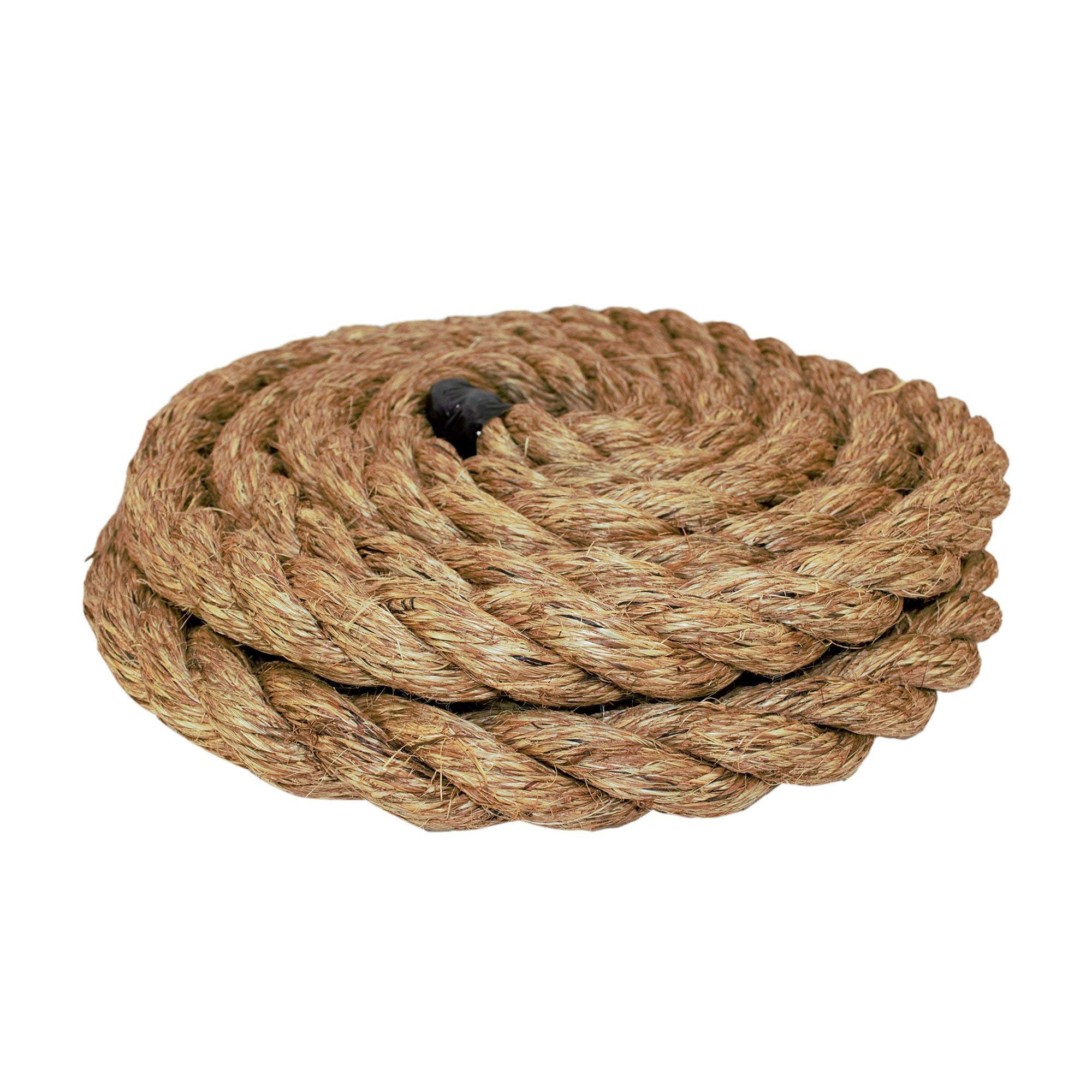 Thick Heavy Duty Rustic Outdoor Cordage for Craft Dock Climbing 1//4 in x 10 ft Tree Hanging Swing - SGT KNOTS Twisted Manila Rope Hemp Rope Tan Brown Natural Rope Decorative Landscaping