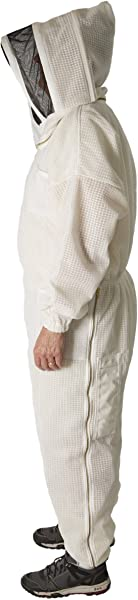 Ultra Breeze Large Beekeeping Suit With Veil 1 Unit White