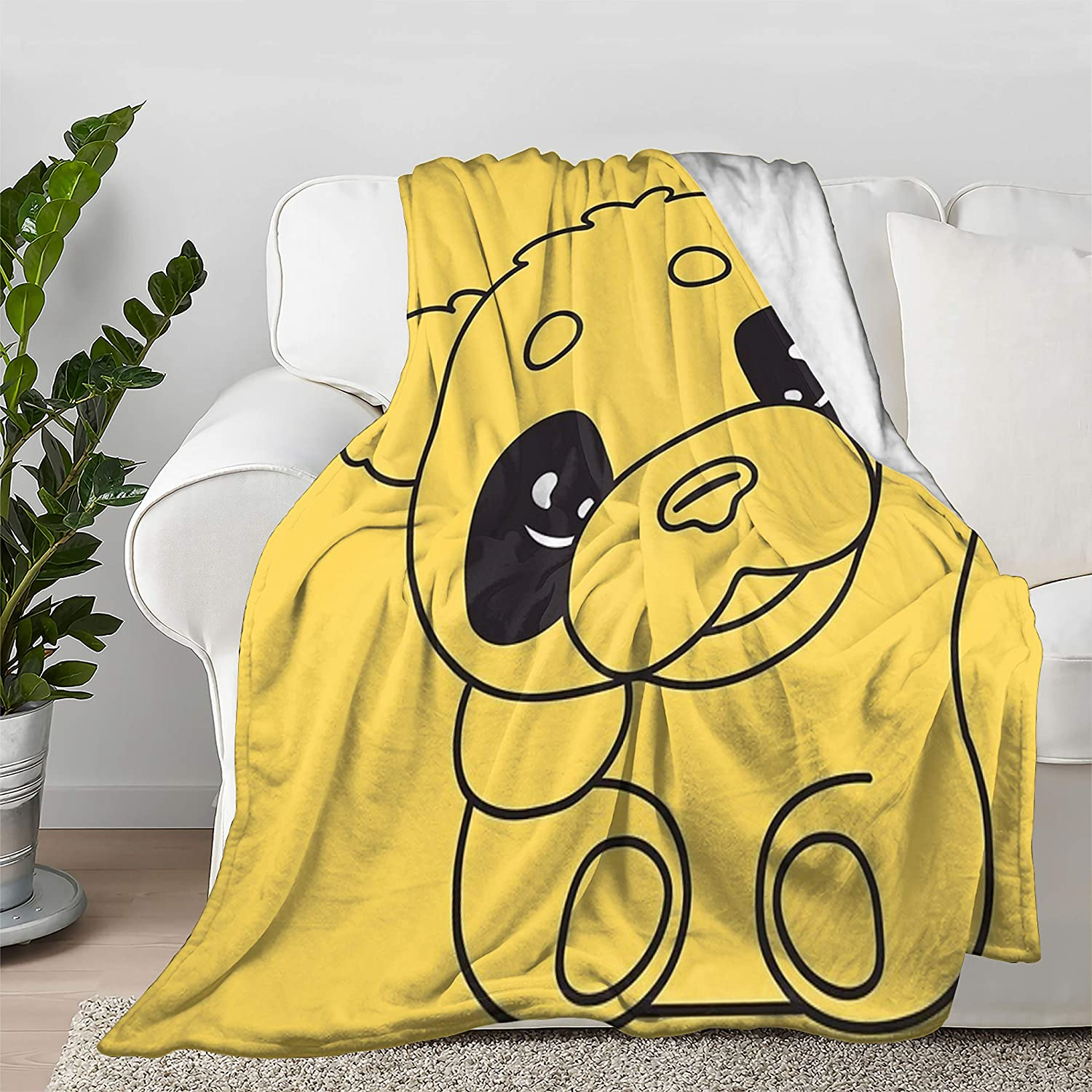 Baby Overseas parallel import regular item Panda Free shipping Waving Paw Cartoon Flannel Soft Throw Blanket Fit Bed