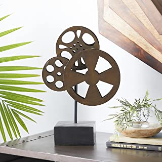Deco 79 Metal Movie Reel Elegant Accessory for Conference Room