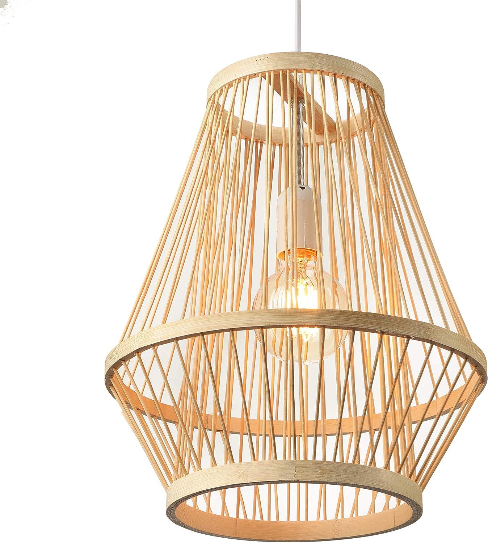 Overseas parallel import regular item BAYCHEER Retro Single Light Lanter quality assurance Corridor Bamboo Pendant