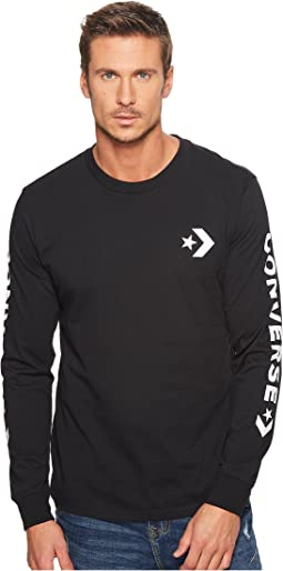 Converse Star Chevron Wordmark Long Sleeve Tee