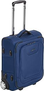 حقيبة سفر مستقيمة بعجلات من امازون بيسكس مع جانب لين مع قفل تي اس ايه