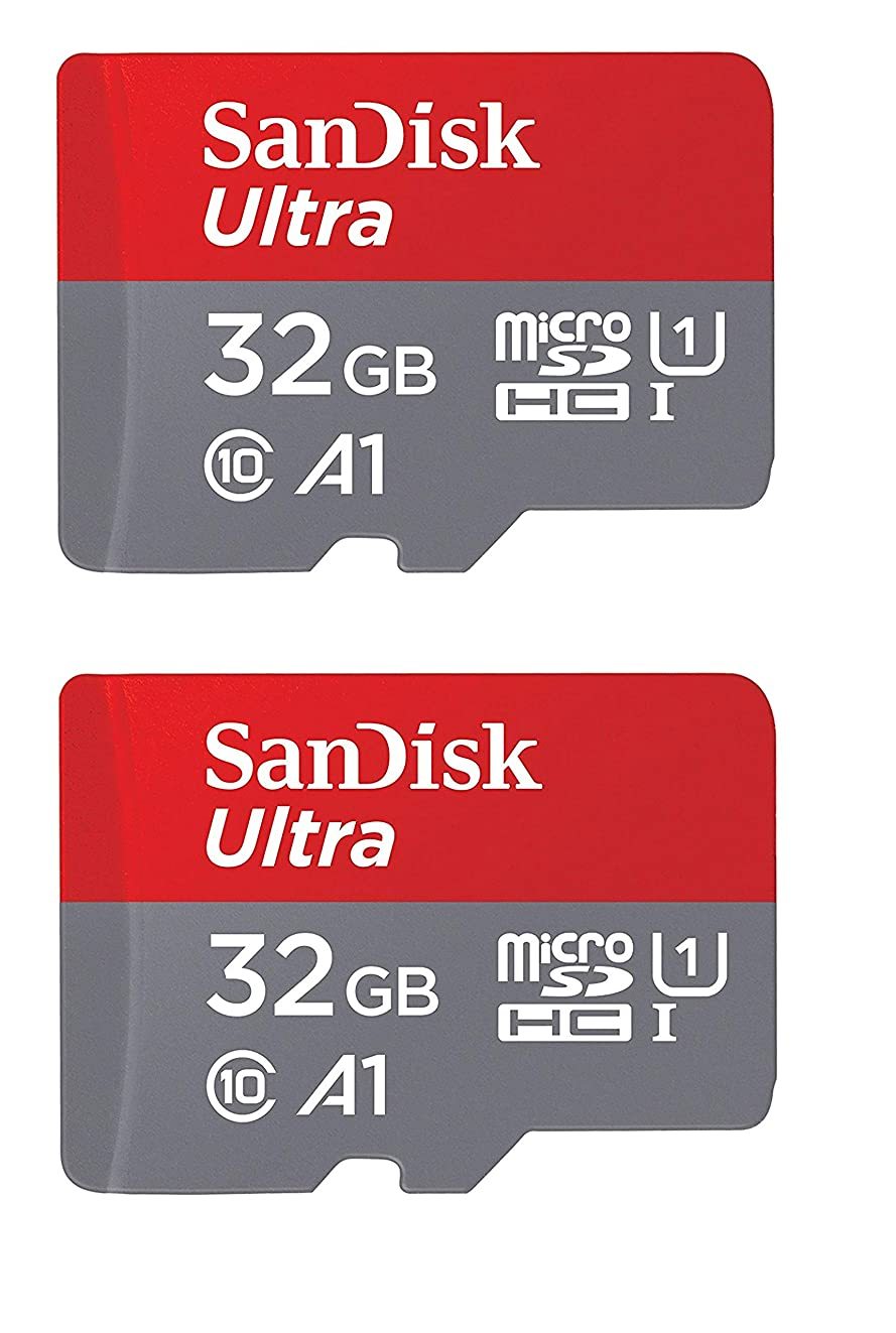 SanDisk 32GB X2 (64GB) MicroSD HC Ultra Uhs-1 Memory Card, Class 10