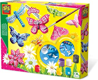SES Creative Butterfly Glitter Plaster Casting and Painting Kit, multicolour