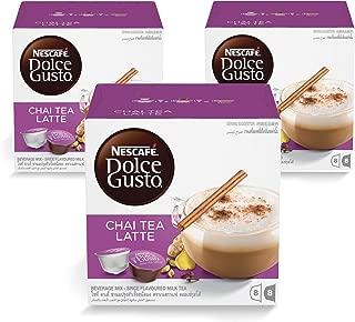 Nescafe Dolce Gusto Chai Tea Latte Coffee (48 Capsules, 24 Cups)