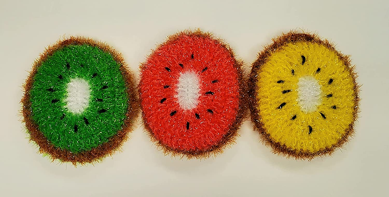 100% Handmade Dish Scrubber Crochet Bombing free Mesa Mall shipping Dishwash Scrubbi Design Kiwi