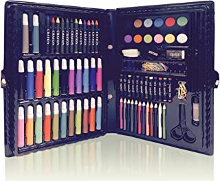 Deluxe Art Set for Kids by Art Creativity - Ideal Beginner Artist Kit Includes 101 Pieces - Watercolor, Crayons, Colored Markers, Color Pencils and More + Bonus Coloring Book