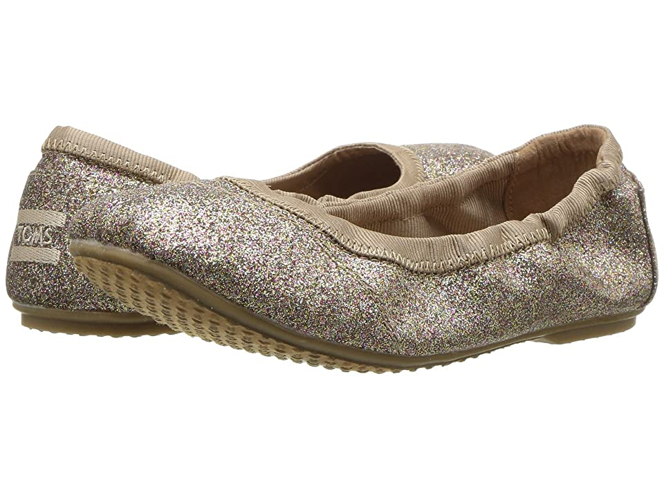 TOMS Kids Ballet Flat (Little Kid/Big Kid) (Gold Iridescent Glimmer) Girls Shoes