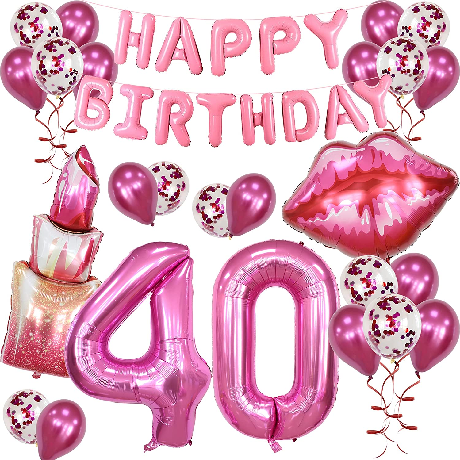 Discount is also underway Spa Makeup Birthday Party New color Balloon Supplies 40th Happy