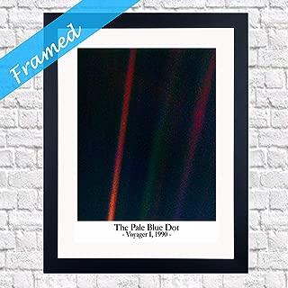 Wallbuddy Pale Blue Dot Photo Framed House Warming Gift Spcae Photo Framed (WBF030) (8 x 10)