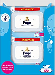 Page Vochtig Toiletpapier - Origineel Schoon Maxipack - 456 stuks - 6 x 76 stuks - Voordeelverpakking