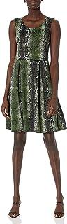 Star Vixen womens Petite Classic Str Ponte Knit Slvlss Box-Plt FitnFlare Dress Dress