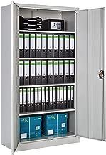 TecTake Aktenschrank mit Fächern | abschließbar | 2 Flügeltüren - Diverse Modelle - (180x90x40 cm | Nr. 402483)