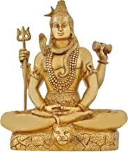 ShalinIndia Lord Shiva Statue Religious Gifts Brass Metal for Hindu Home Temple Puja and Decor 8 Inch 2.6 Kg
