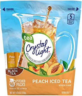 Crystal Light Peach Tea Sticks 16 ct 4.55 oz (Pack of 2)