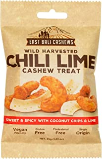 East Bali Cashews, Chili Lime Cashew Nut Snack Packs (10 Count) - Gluten Free, Non-GMO, Vegan Friendly