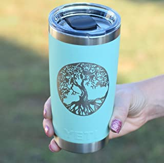 Tree of Life Personalized Yeti Tumbler Additional Colors Available - Engraved Yeti Rambler - 20 oz Yeti - 30 oz Yeti - Personalized Yeti - Yeti Gift - Laser Engraved Yeti - Yeti Tumbler - Yeti Cup