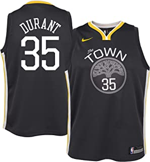 Nike Kevin Durant Golden State Warriors NBA Youth 8-20 The Town Statement Edition Black Alternate Swingman Jersey