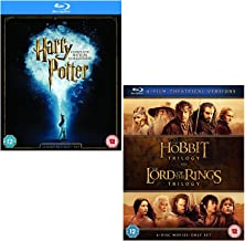 Harry Potter Complete 8 Film Collection - The Hobbit Trilogy - The Lord Of The Rings Trilogy - 3 Movie Bundling Blu-ray