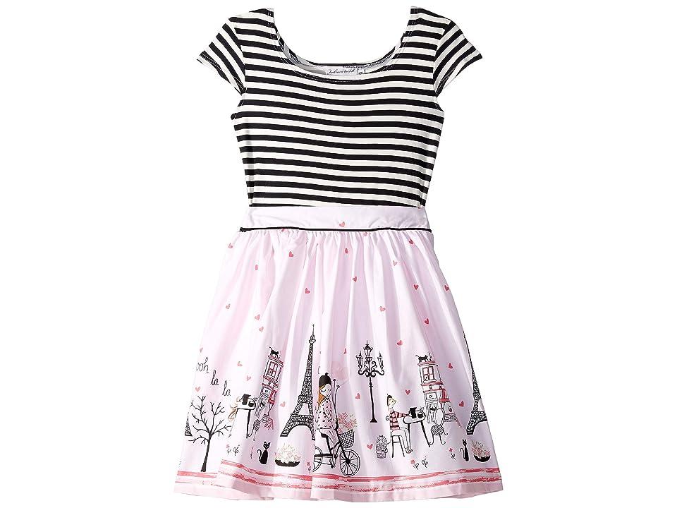 fiveloaves twofish Maddy Ohlala Dress (Toddler/Little Kids/Big Kids) (Black/White) Girl