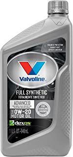 Valvoline Advanced Full Synthetic SAE 0W-20 Motor Oil 1 QT