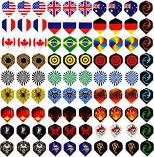 Centaur 30 Sets 90 Pcs Standard Dart Flights Durable PET and Extra 6 Pcs Flights..